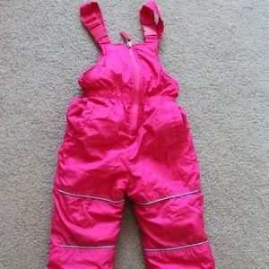 Pink Platinum Girls 18 M Snow Pants Overalls Pink